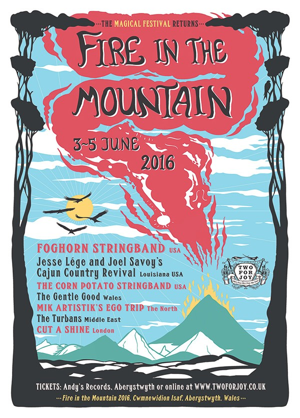 Fire In The Mountain – festival artwork
