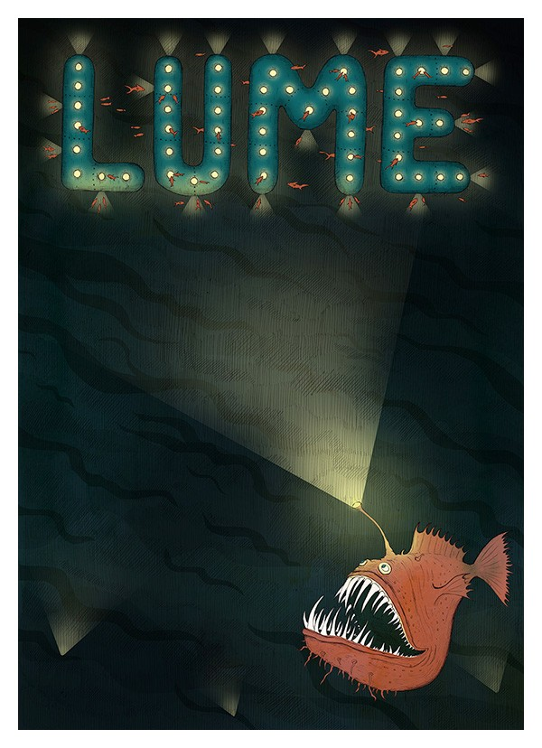 Monthly gig poster background for LUME