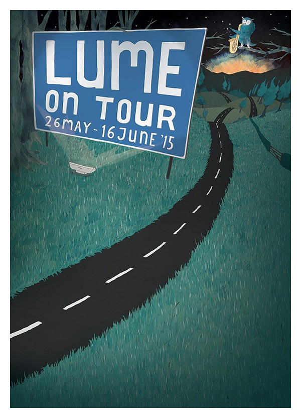 Tour poster background for LUME