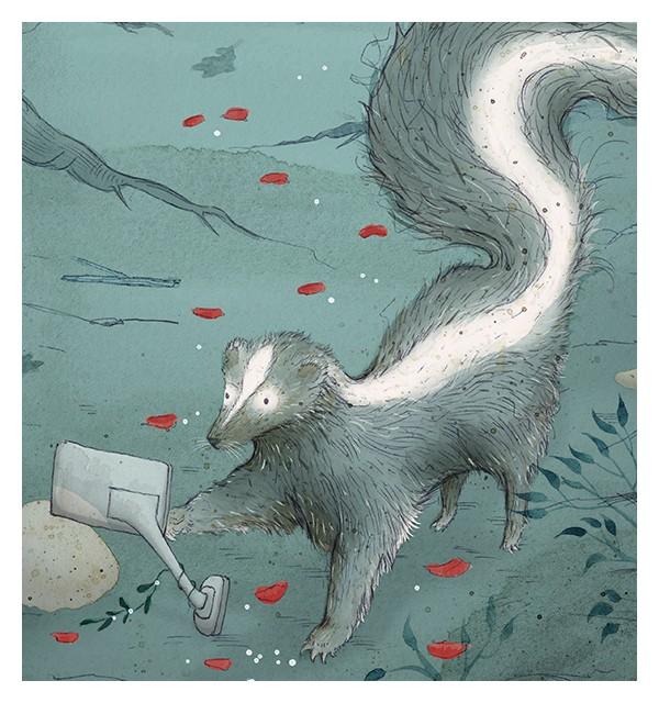 Skunk print